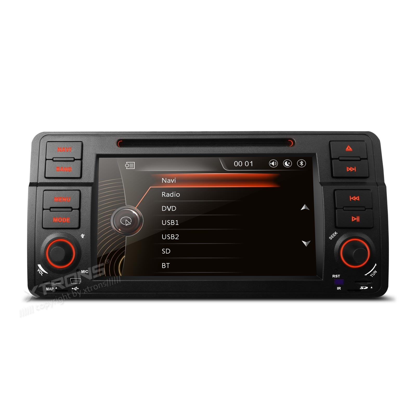 "7"" 1080P Video Capacitive Touch Screen Car DVD Player with GPS Canbus for BMW E46 / Rover 75 / MG ZT"