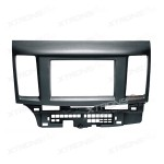 Double Din Radio Fascia for MITSUBISHI Lancer X, Galant Fortis Stereo Facia Panel