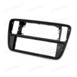 VW, Skoda, Seat Panio Black Single Din Fascia Panel Fascia Surround Adaptor Plate