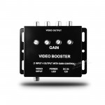 Xtrons BOS002 4 Channels Video Signal Booster Splitter Amplifier with Gain Control RCA