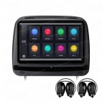 "2x9"" Touch Screen HD Digital Screen Car Headrest DVD Players with HDMI Input and Zipper Cover &  2 headphones"