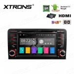 "7"" Android 7.1 Quad Core 16GB + DDR3 2G RAM HD Digital Touch Screen HDMI Car DVD Player Costom fit for Audi A3 / S3 / RS3"