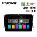 "8"" Android 7.1 Quad Core 16GB + DDR3 2G RAM HD Digital Touch Screen HDMI Car DVD Player Costom fit for Volkswagen / Seat / Skoda"