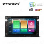 "7"" HD Digital Octa-Core 64bit 32GB + 2G RAM Android 6.0 Multi Touch Screen Car DVD Player Custom Fit for Volkawagen"