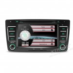 """7""""HD Digital Touch Screen Dual CANbus GPS Navigator Car DVD Player With Screen Mirroring Function For Skoda"""