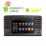 """7""""Android 5.1 Lollipop 64 Bit Operating System Quad Core Car DVD Player  with Screen Mirroring Function & TPMS Function & OBD2 for Mercedes-Benz"""