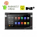 "7""Android 5.1 Lollipop 64-bit Operating System Quad Core Car DVD Player with Screen Mirroring Function & TPMS Function & OBD2 For Volkswagen/Seat/Skoda"