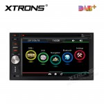 """6.2"""" HD Digital Built-in DAB+ Tuner Touch Screen Double Din Car DVD Player"""