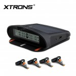 SOLAR WIRELESS TPMS Car Tire Pressure Monitoring System 4 Intrenal Sensors