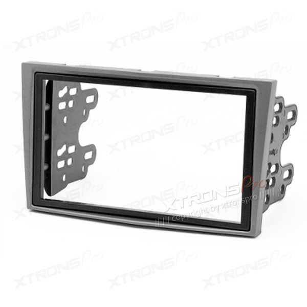 Silver Radio Fascia for Opel/Daewoo/GMC Double Din Facia Panel Install CD Kit Trim