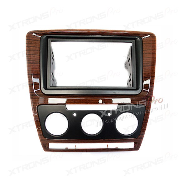 Double Din Fascia Facia Adaptor Panel Surround Stereo for SKODA and VW