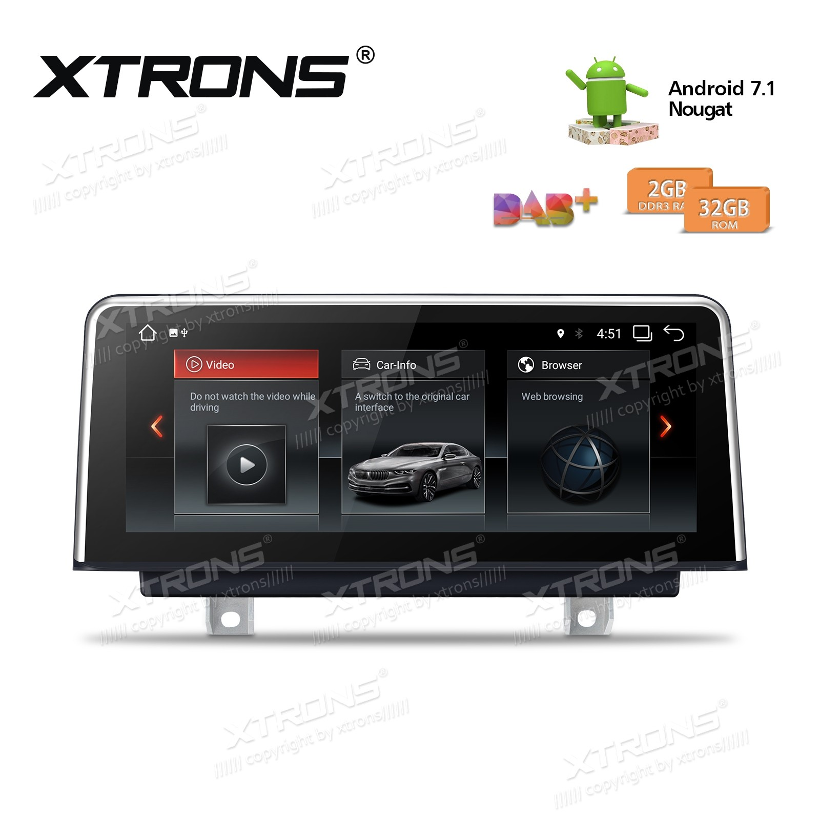 10 25'' Android Multimedia Navigation System BMW 3 Series 4