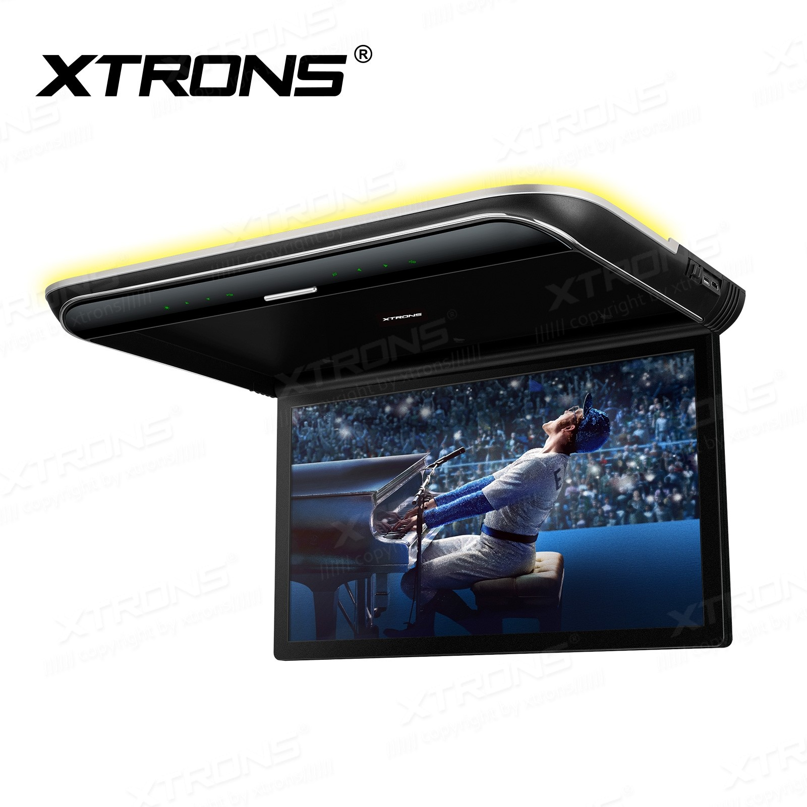19.5 inch HD Digital TFT 16:9 Screen Ultra-thin Roof Mounted Player with Built-in Speakers and Colourful Aura Light