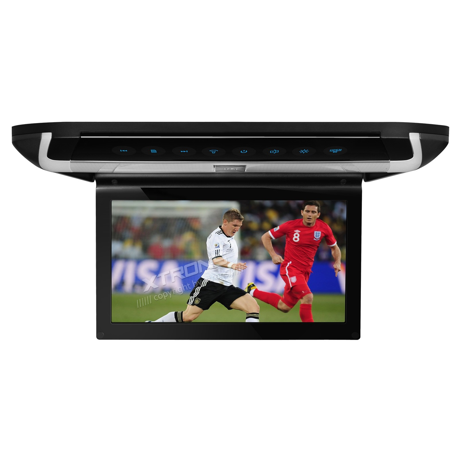 "10"" HD Digital TFT Monitor Touch Panel Car Roof DVD Player with HDMI"