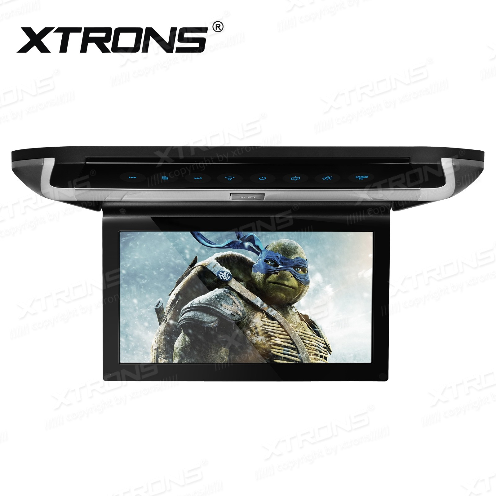 10 inch HD Digital TFT Monitor Touch Panel Car Roof DVD Player with HDMI