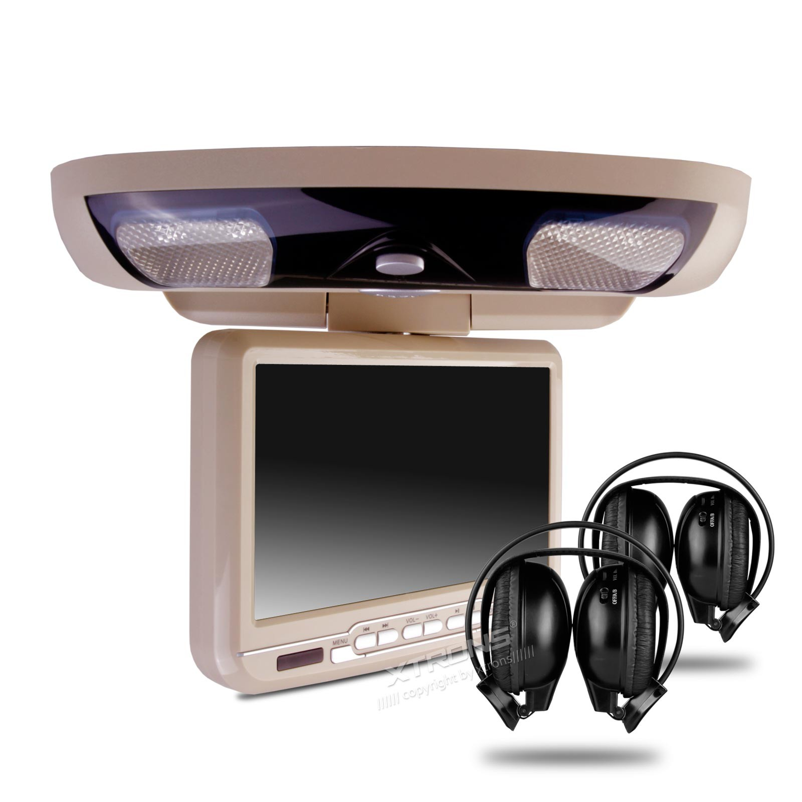 """Xtrons CR903 9"""" digital screen In Car Roof Mounted DVD Player"""