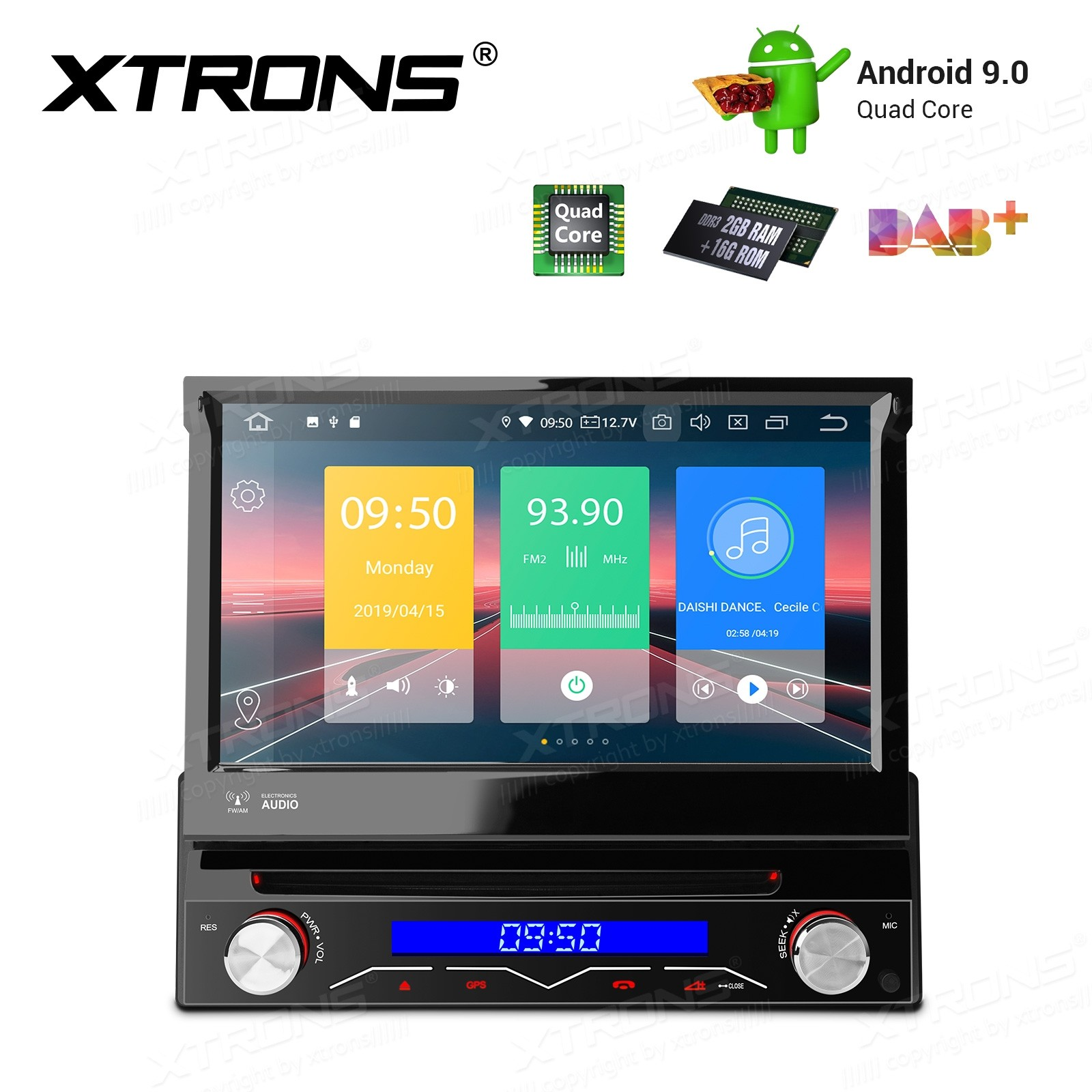 """7"""" Android 9 Pie Single Din Car Stereo Multimedia System"""