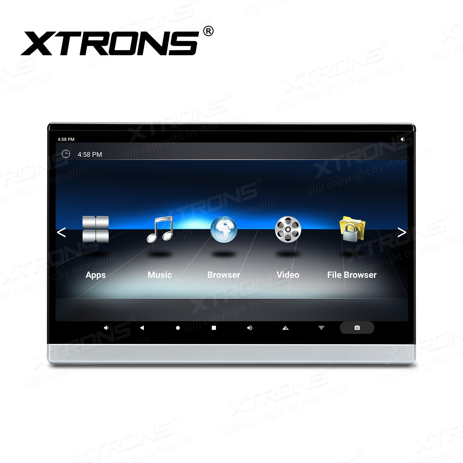 """13.3"""" Touch Screen Android 10 Octa Core Processor Car Headrest Monitor with 1920*1080 Resolution"""