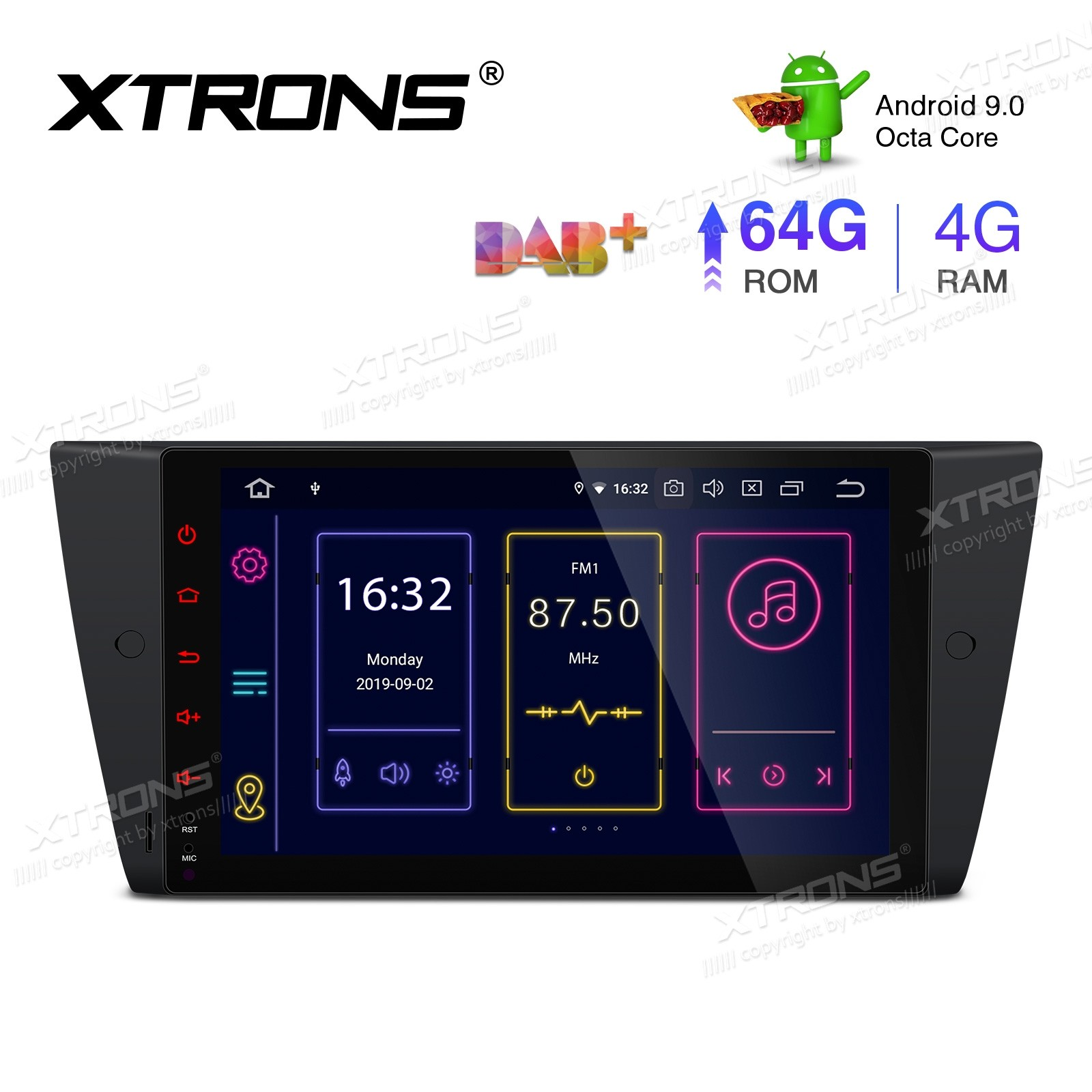 9 inch Android 9.0 Octa-Core 64G ROM + 4G RAM Plug & Play Design Car Stereo Multimedia GPS System Fit for BMW