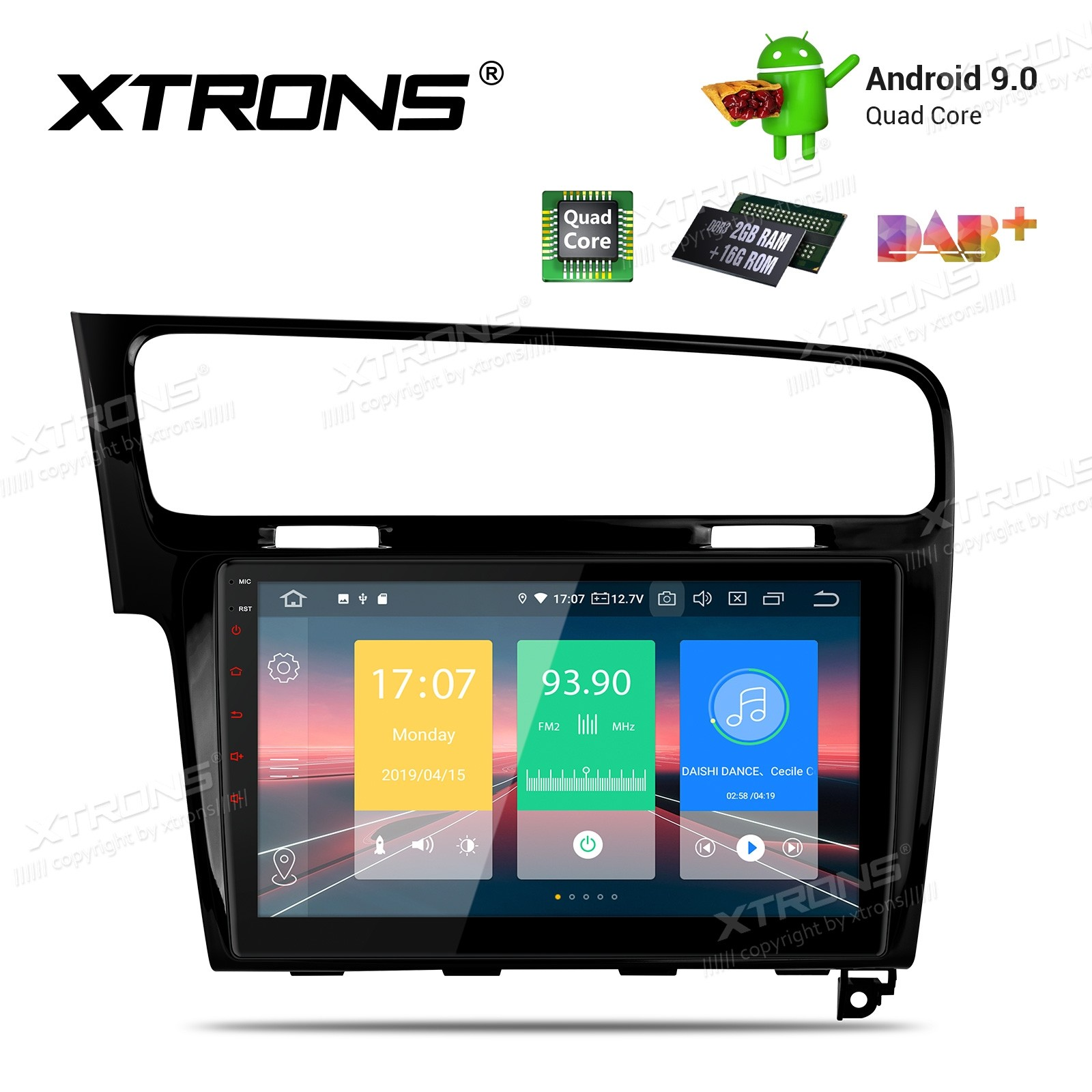 10.1 inch Android 9.0 Plug-and-Play Design Car Stereo Multimedia Navigation System Custom Fit for Volkswagen Golf 7 Left Hand Vehicles