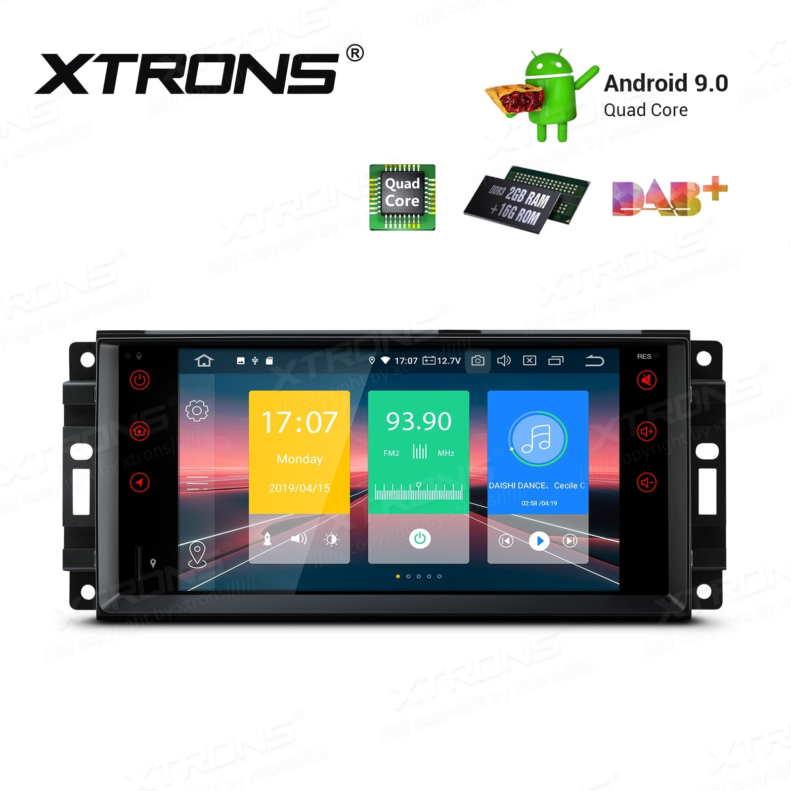 7 inch Android 9.0 Car Stereo Multimedia Navigation System Custom fit for JEEP / DODGE / Chrysler