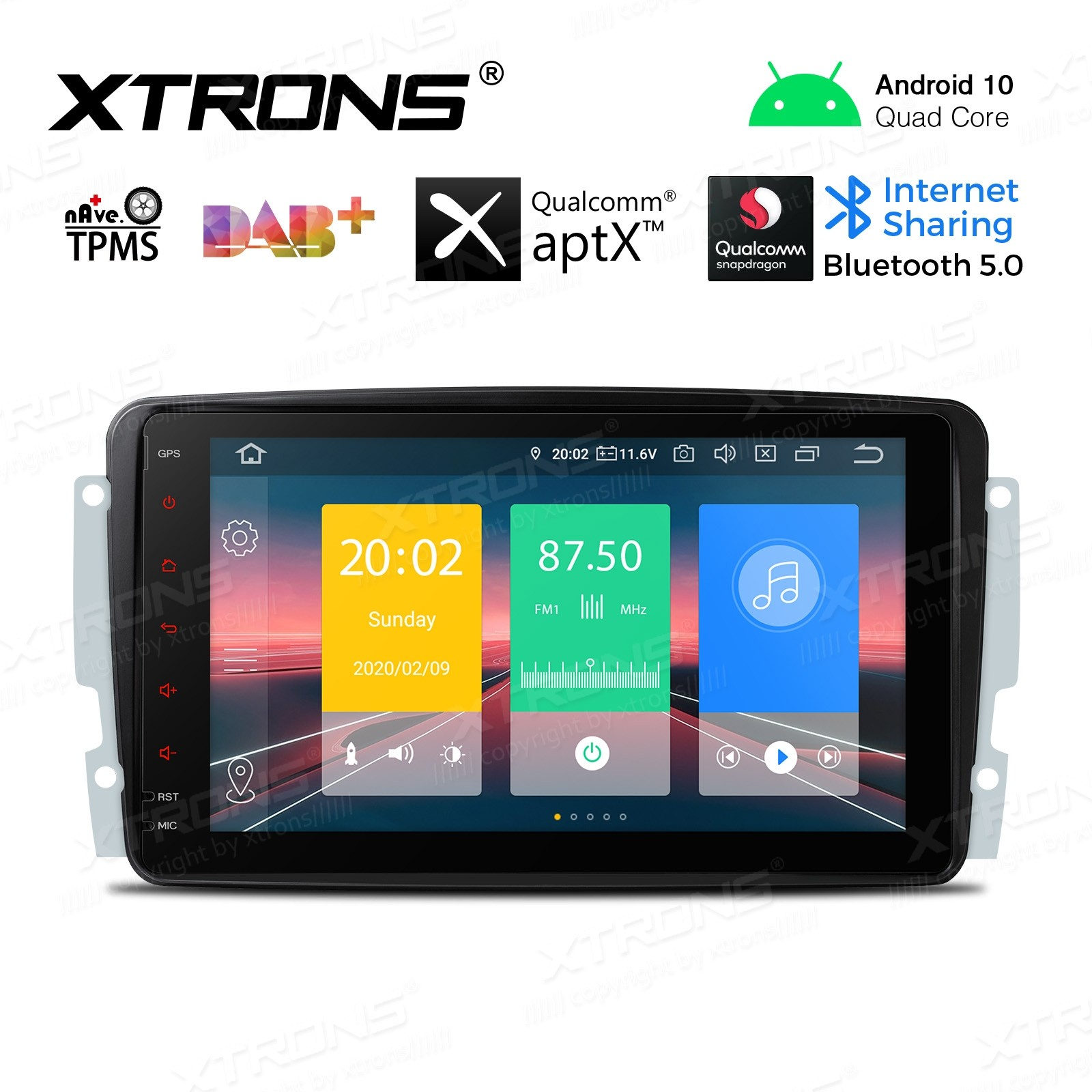 8 inch Android 10.0 Car Stereo Multimedia Navigation system Custom Fit for Mercedes-Benz