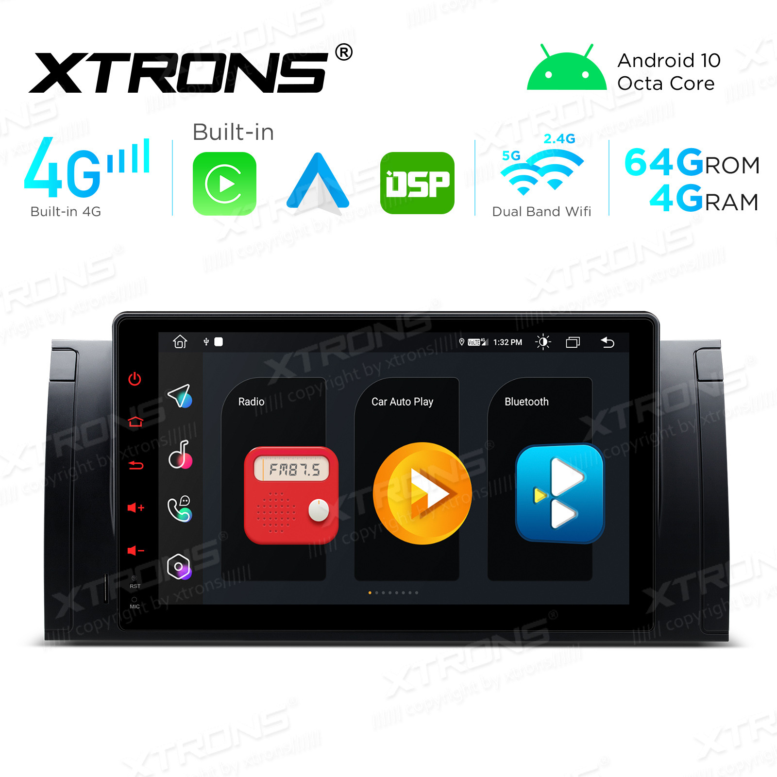 Integrated 4G Solution: 9 inch Octa-Core Android Multimedia Player Navigation System With Built-in CarAutoPlay and Android Auto and DSP For BMW