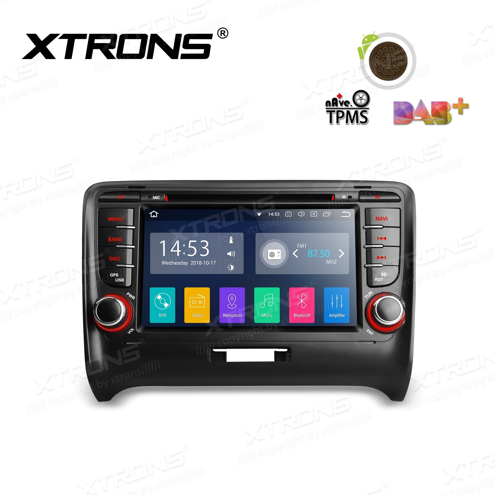 """7""""Android 8.1 Quad Core 16GB ROM + 2G RAM car stereo multimedia navigation system with Full RCA Output Costom Fit for Audi"""