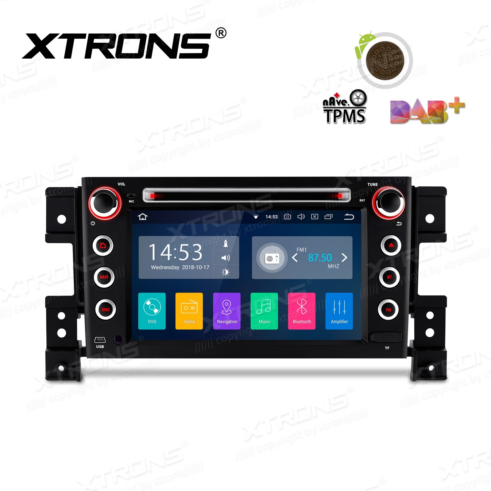 """7""""Android 8.1 Quad Core 16GB ROM + 2G RAM car stereo multimedia navigation system with Full RCA Output Costom Fit for SUZUKI"""