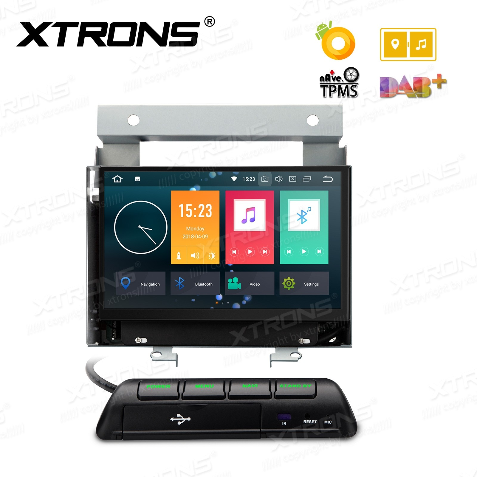 """7"""" Android 8.0 Octa-Core 32GB ROM + 4G RAM Multimedia DVD Player Custom fit for Land Rover"""