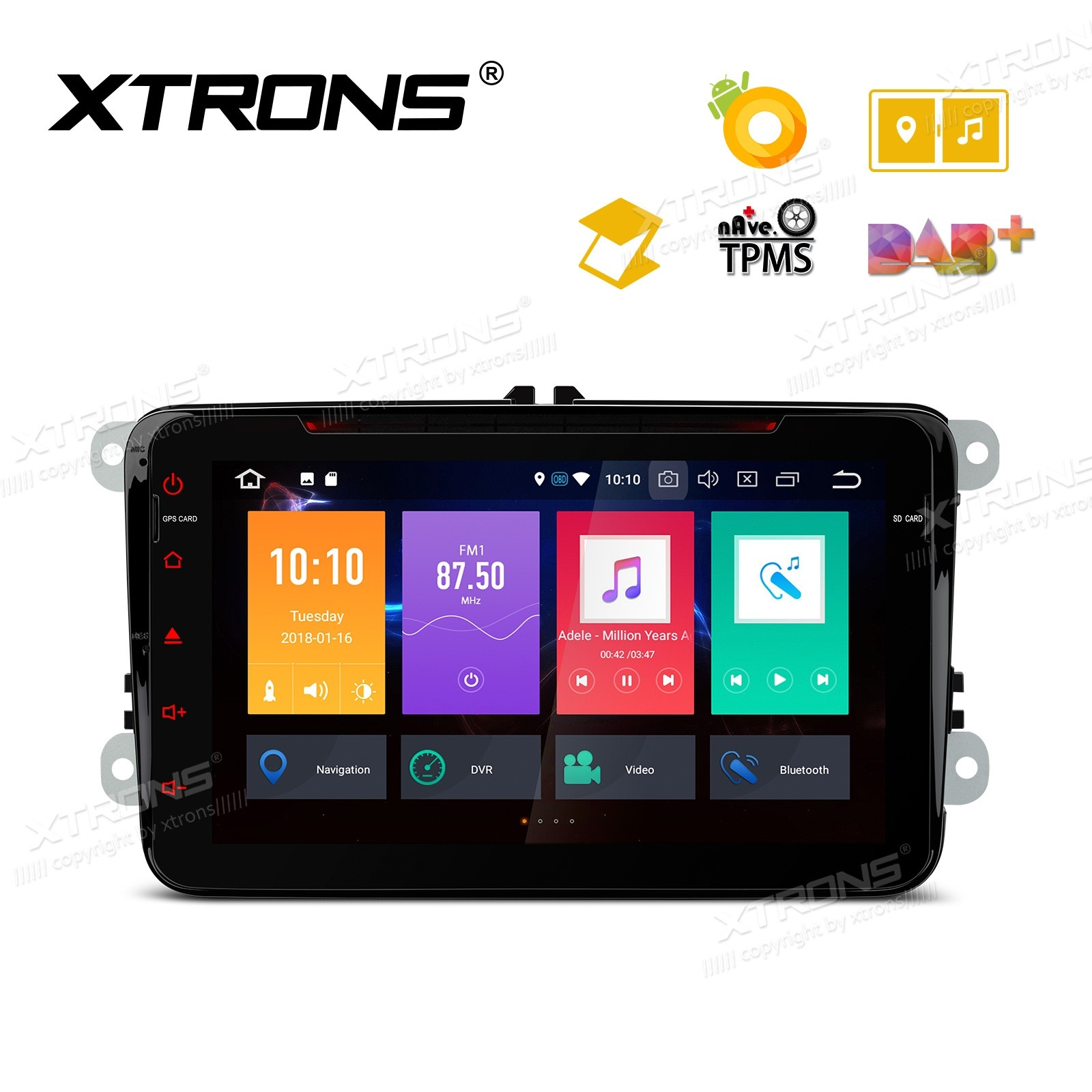 "8"" Android 8.0 Octa-Core 32GB ROM + 4G RAM Multimedia DVD Player support car auto play Custom fit for Volkswagen / SEAT / SKODA"
