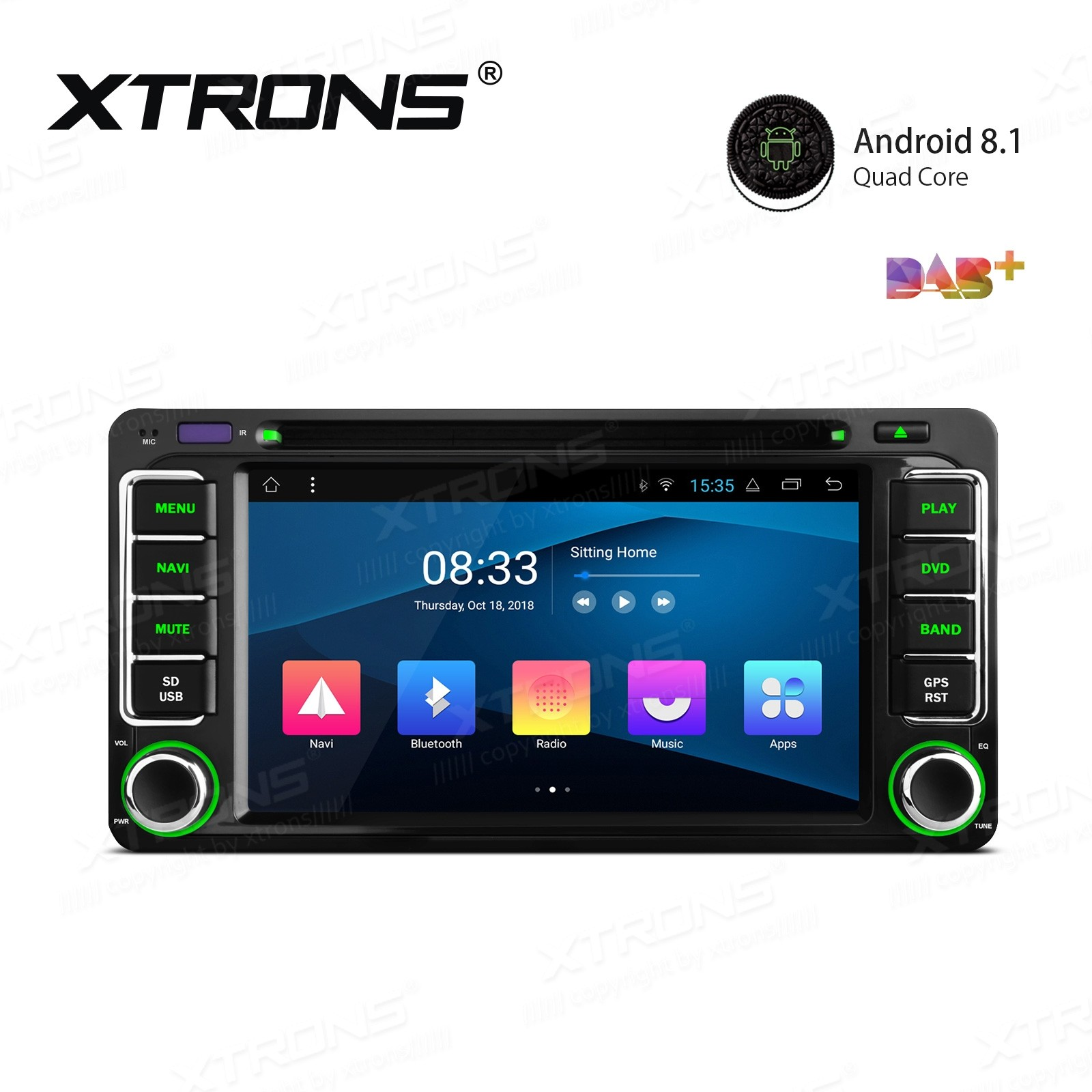 "6.2"" Android 8.1 with Full RCA Output In-Dash GPS Navigation Multimedia System Custom Fit for Toyota"