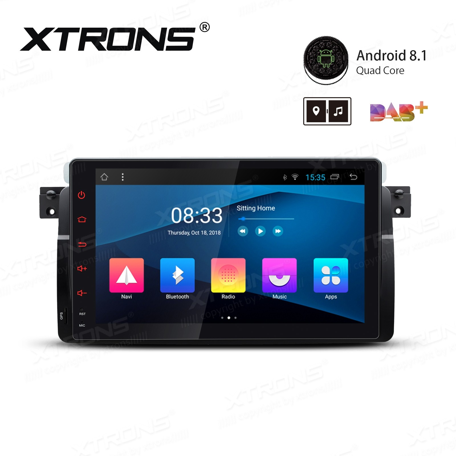 """9"""" Android 8.1 with Full RCA Output In-Dash GPS Navigation Multimedia System Custom Fit for BMW"""