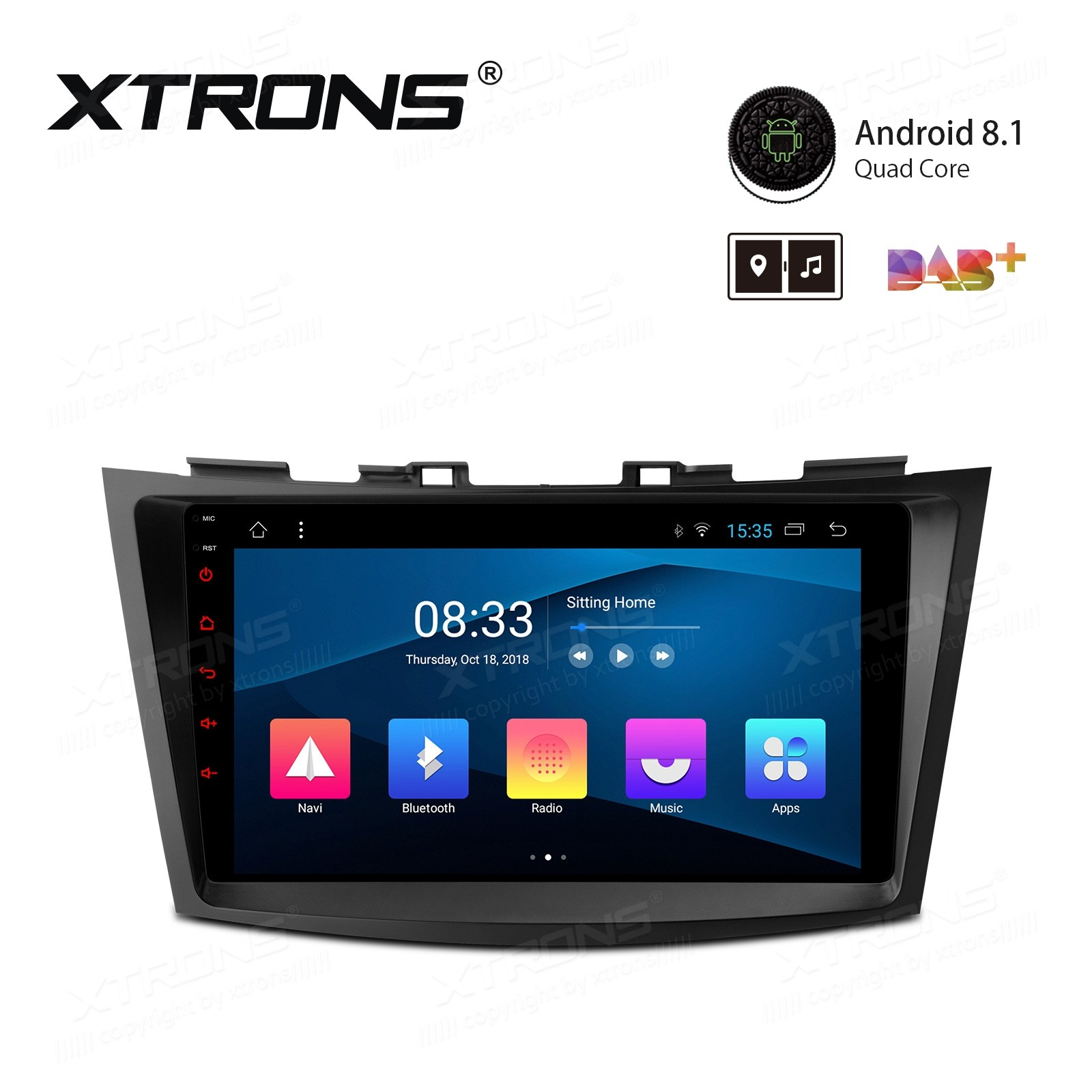 """9"""" Android 8.1 with Full RCA Output In-Dash GPS Navigation Multimedia System Custom Fit for SUZUKI"""