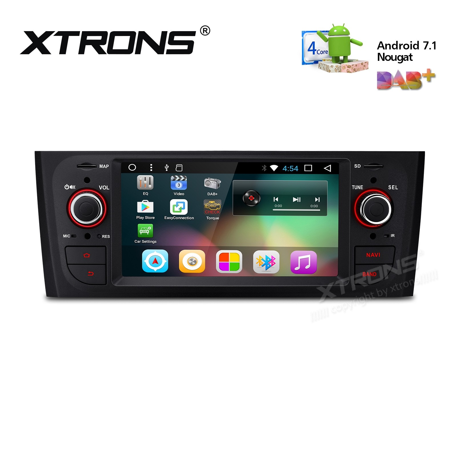 """6.1"""" Android 7.1 Quad core 16GB ROM in-dash mechless car stereo with full RCA Output Custom Fit for FIAT"""