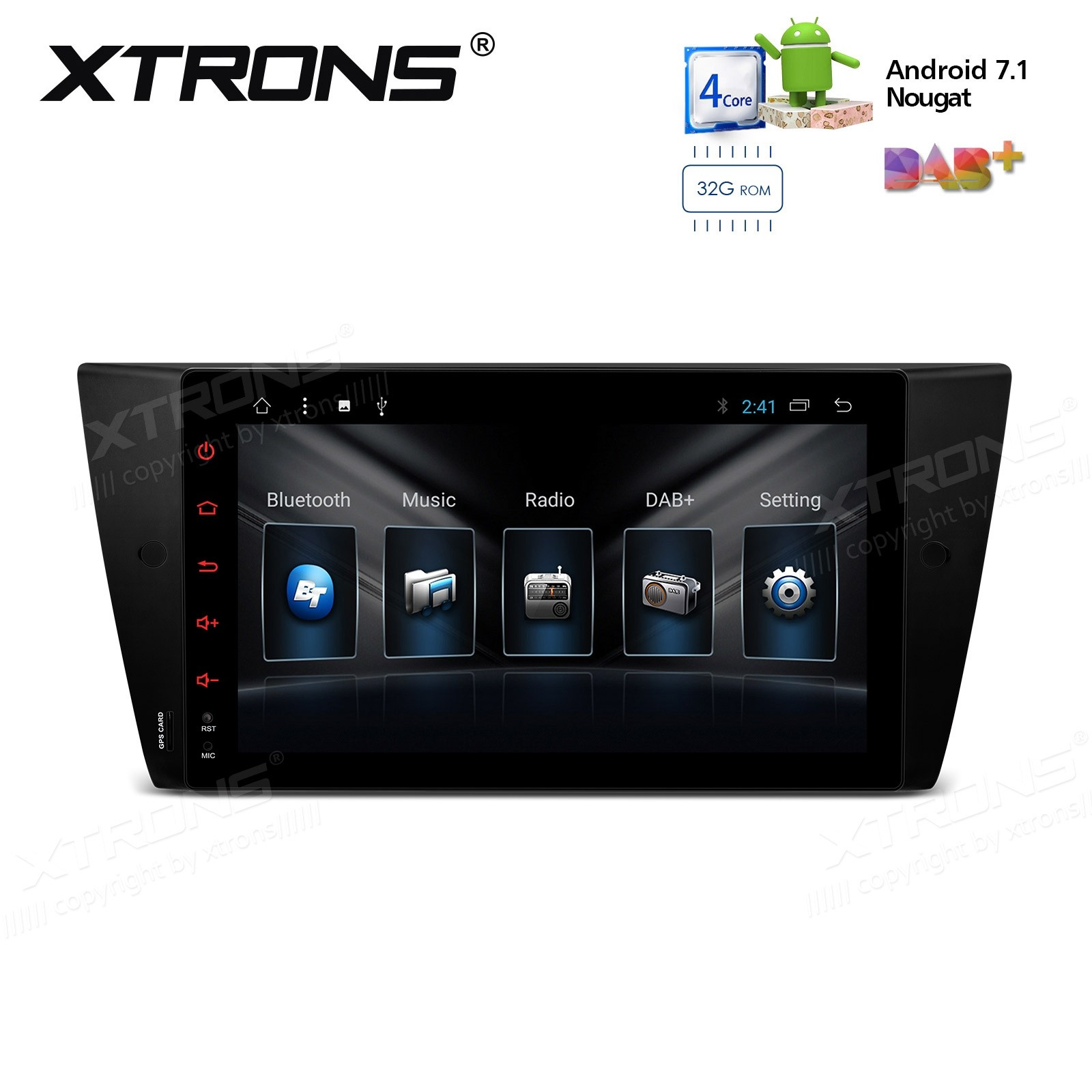 "9"" Android 7.1 Nougat Quad core 32GB ROM + 2GB DDR3 RAM Multimedia HD Digital Touch Screen Car Stereo Custom Fit for BMW"
