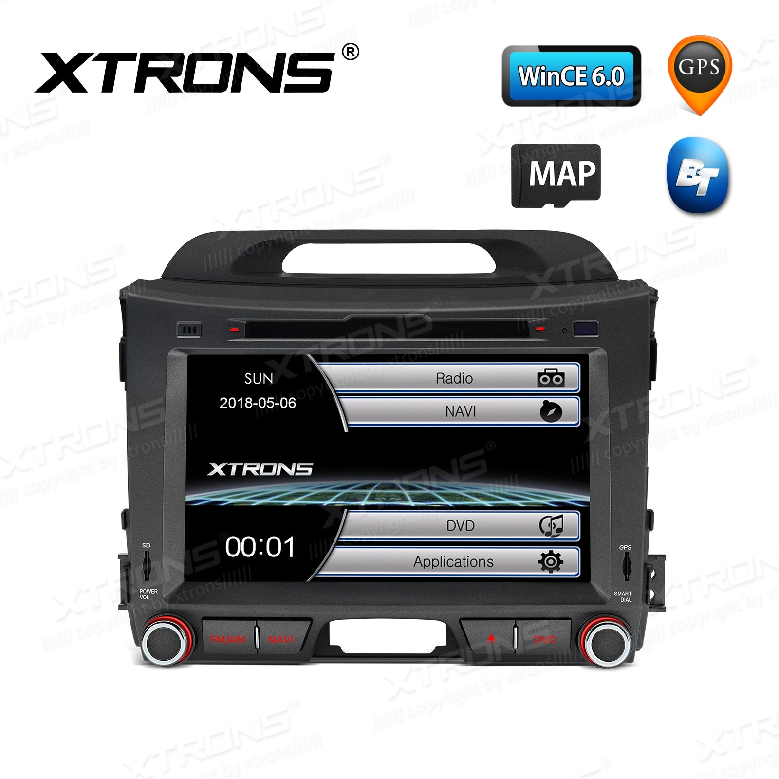 "8"" HD Digital Touch Screen GPS Navigation Car DVD player with Screen Mirroring Function Custom Fit for Kia"