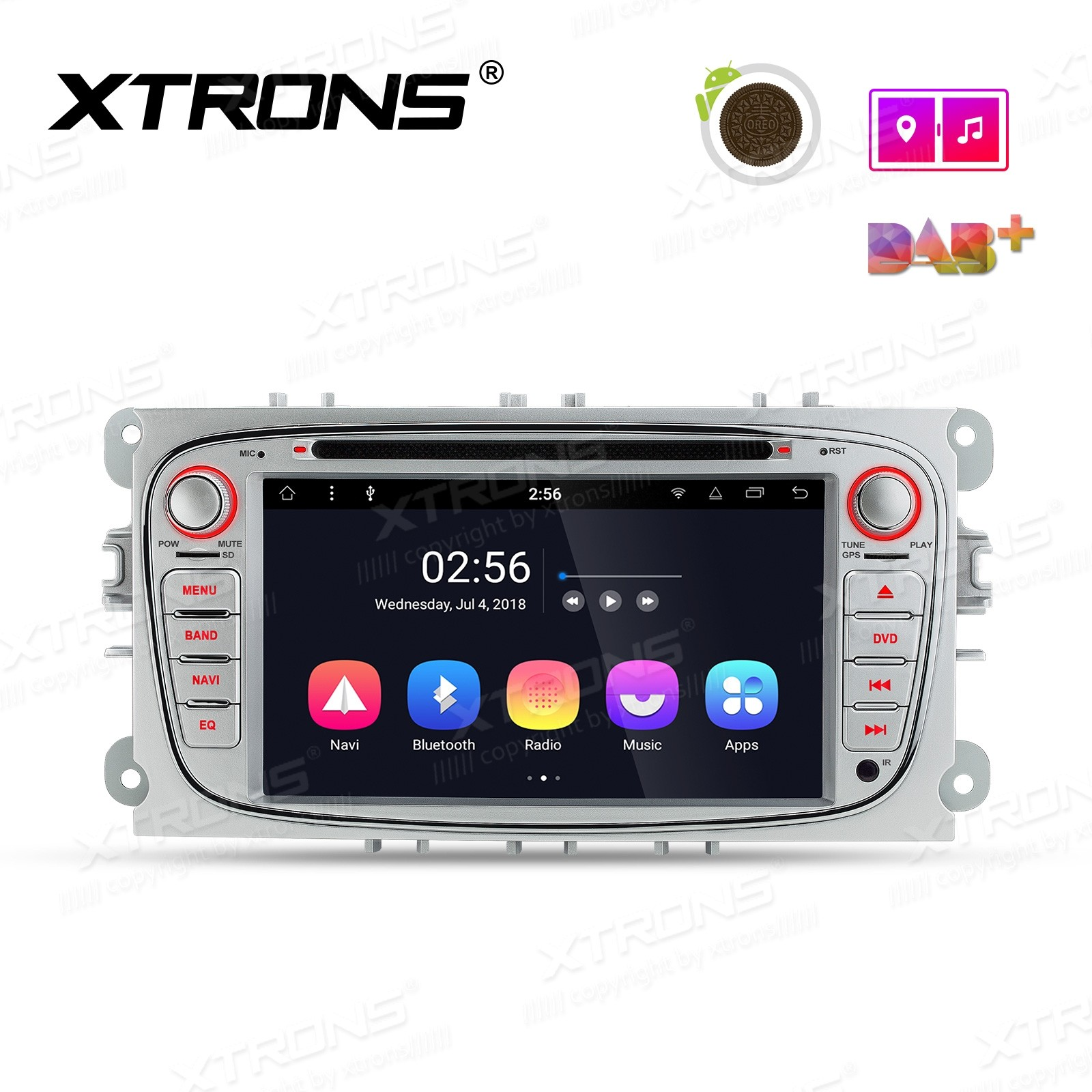 "7"" Android 8.1 Octa-Core Car Stereo Smart Multimedia Player Custom fit for Ford"