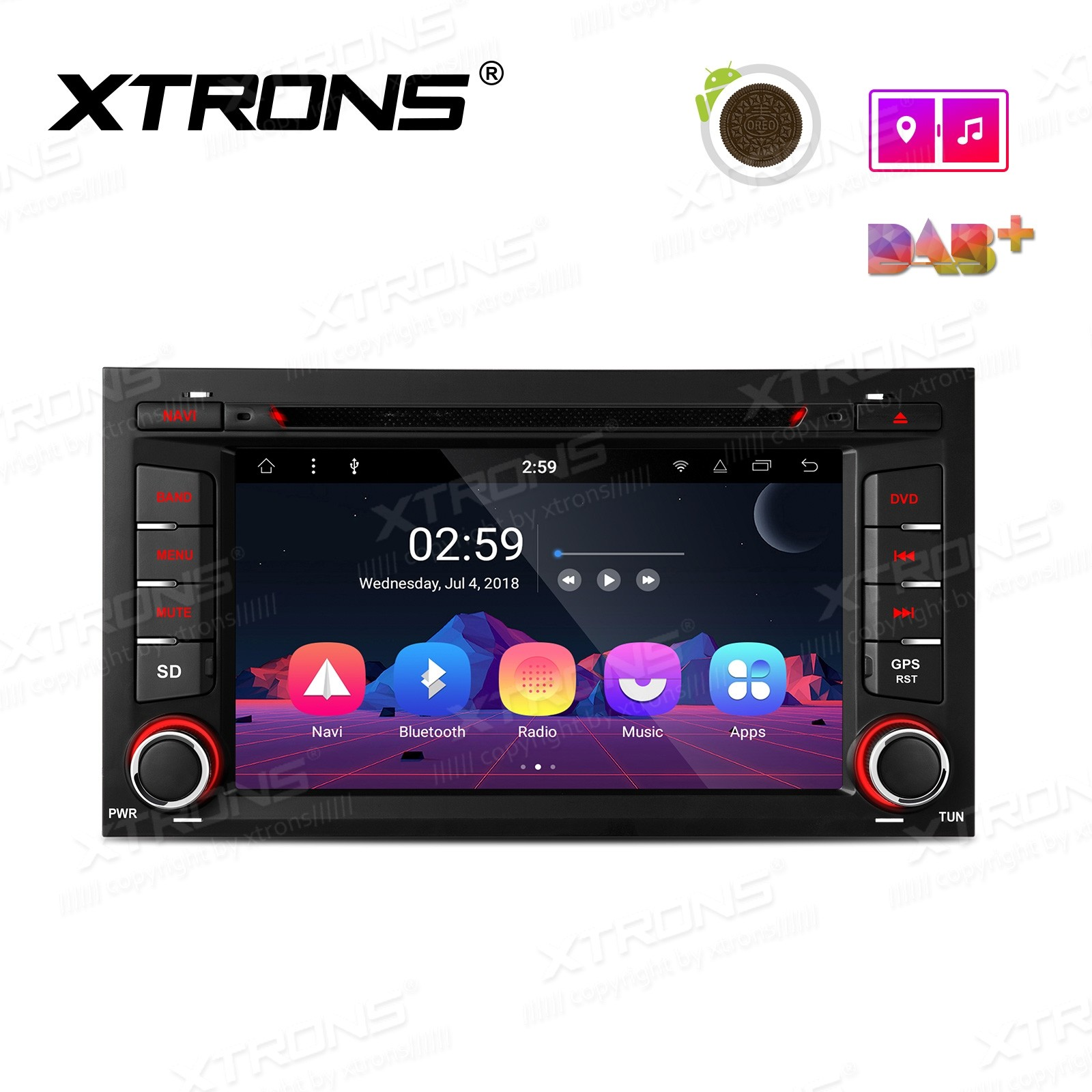 "7"" Android 8.1 Octa-Core Car Stereo Smart Multimedia Player Custom fit for SEAT"