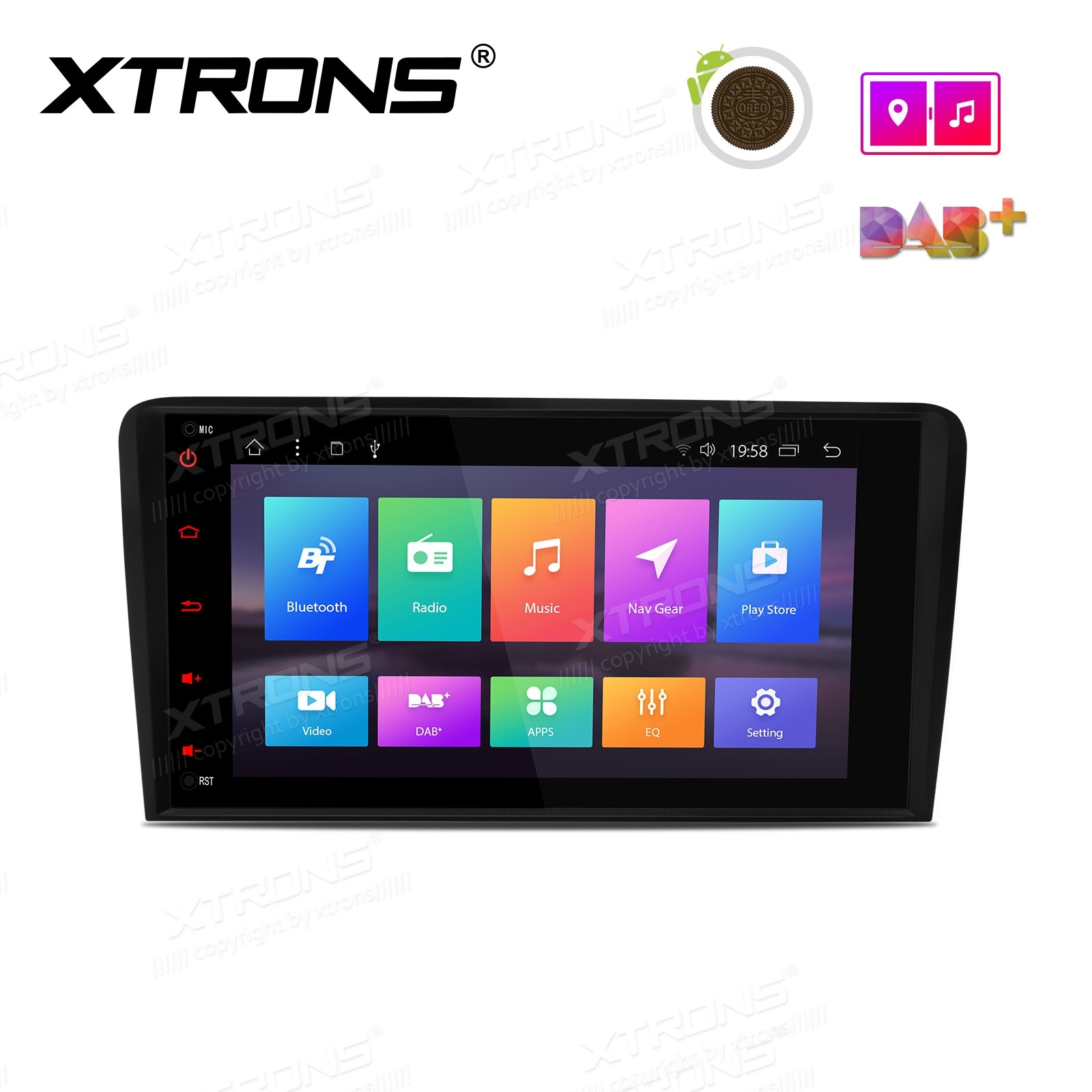"""8"""" Android 8.1 Octa-Core Car Stereo Smart Multimedia Player Custom fit for Audi"""