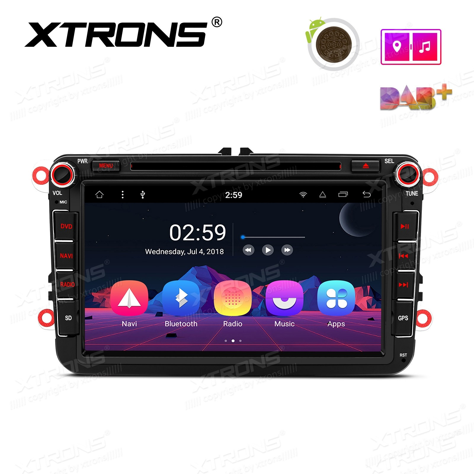"8"" Android 8.1 Octa-Core Car Stereo Smart Multimedia Player Custom fit for Volkswagen"