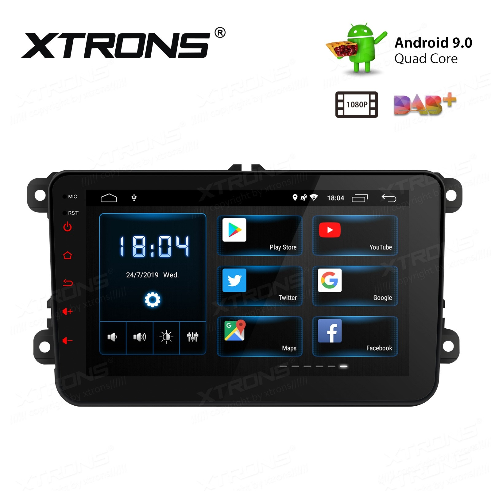 "8 "" Android 9.0 HD Screen multifunctional Android Car Stereo with Full RCA Output Custom Fit For VW / SEAT / SKODA"