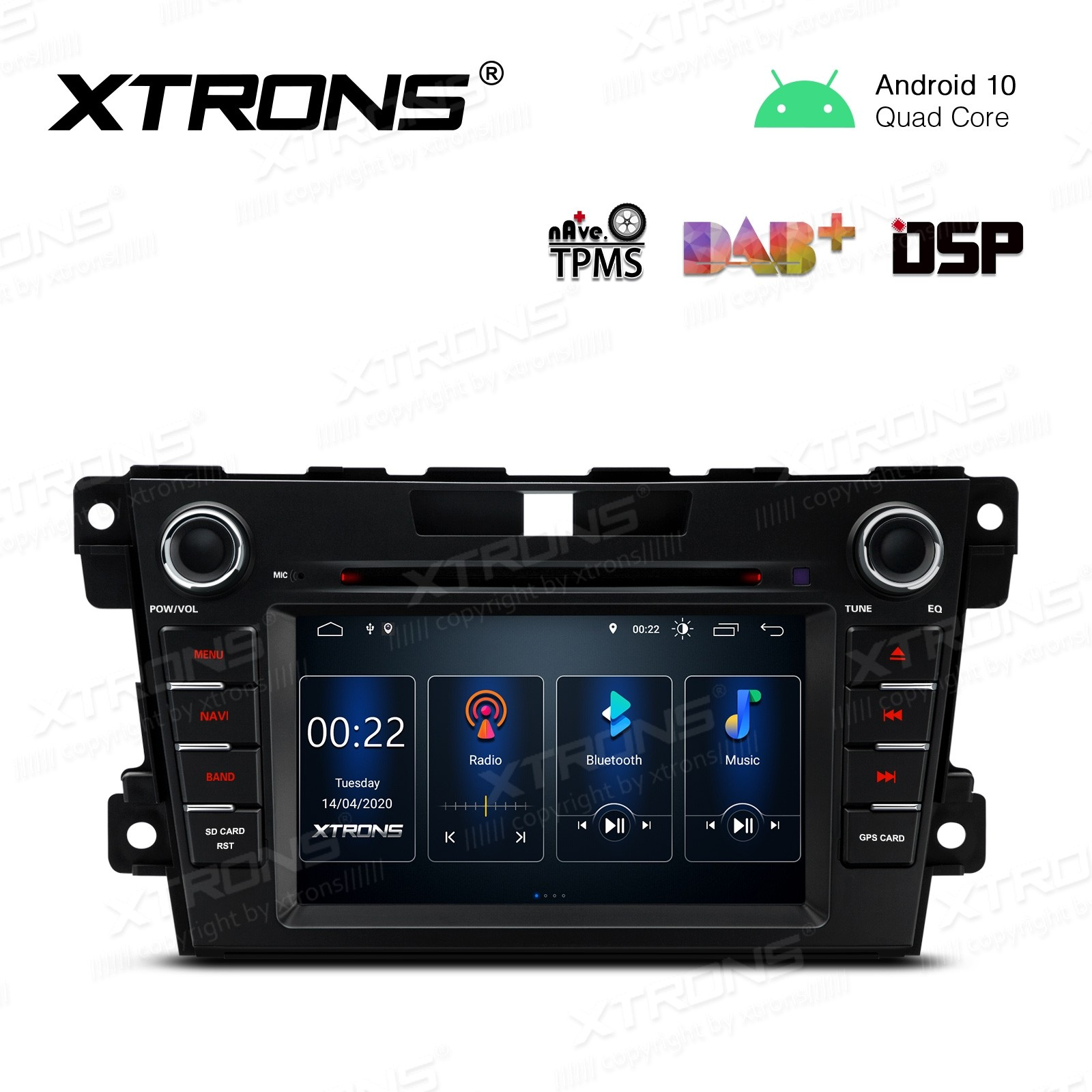 7 inch Android 10.0 Car Navigation Multimedia Player with Built-in DSP Custom Fit for Mazda