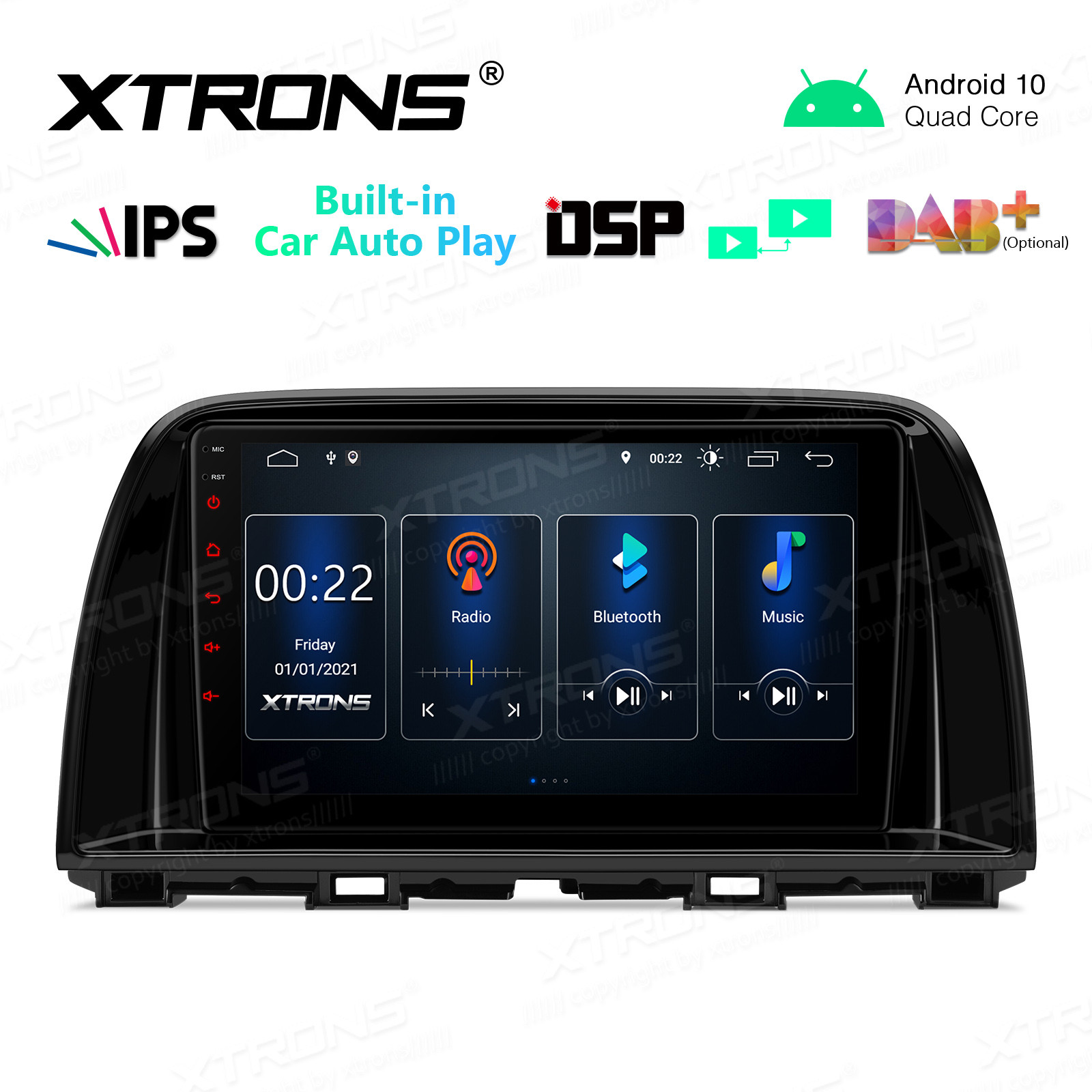 9 inch 2.5D IPS Screen 2GB RAM 32GB ROM Car GPS Navigation Multimedia Player With Built-in CarPlay and DSP Fit For Mazda