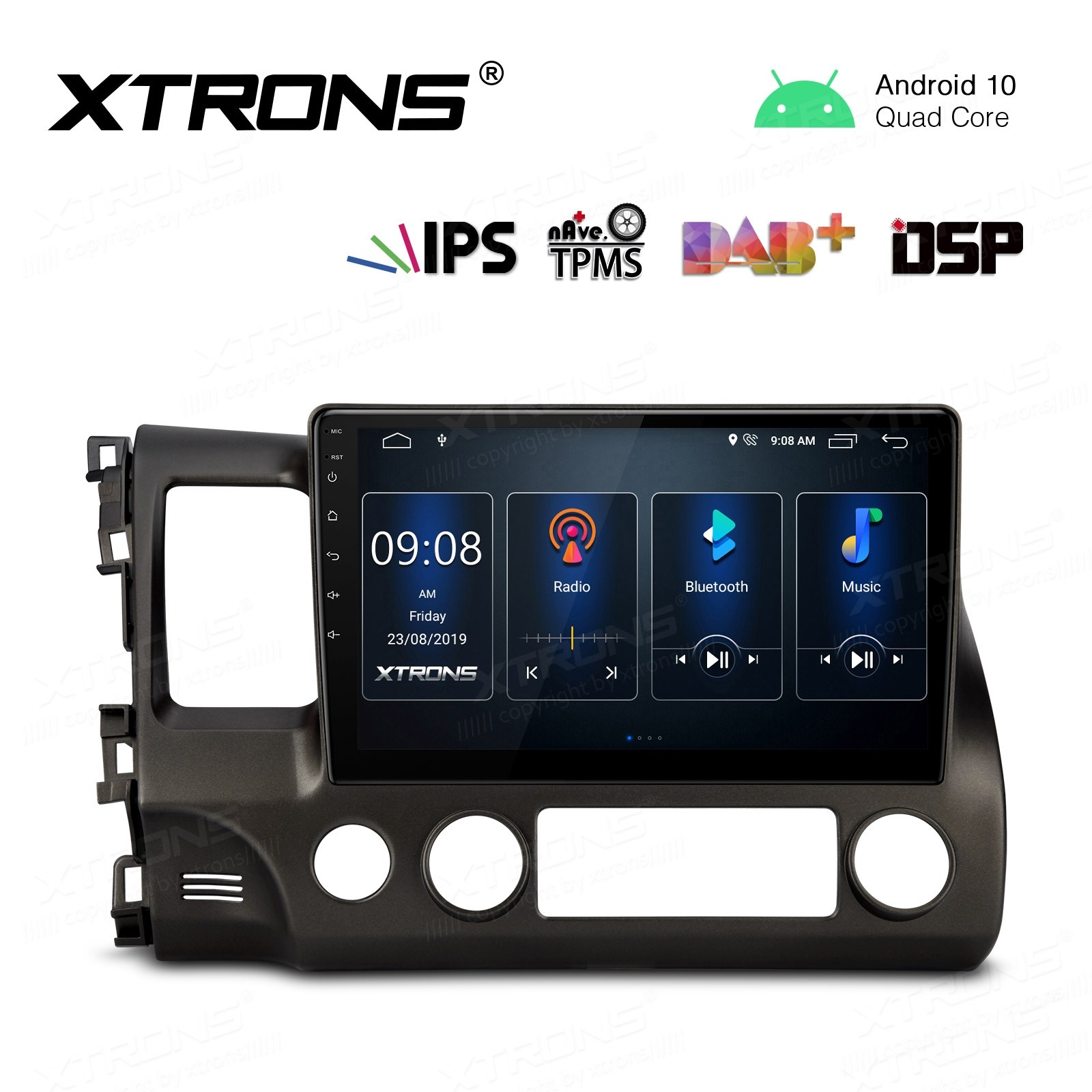 10.1 inch IPS Screen Navigation Multimedia Player with Built-in DSP Fit for HONDA(Fit Left Hand Drive Vehicles ONLY)