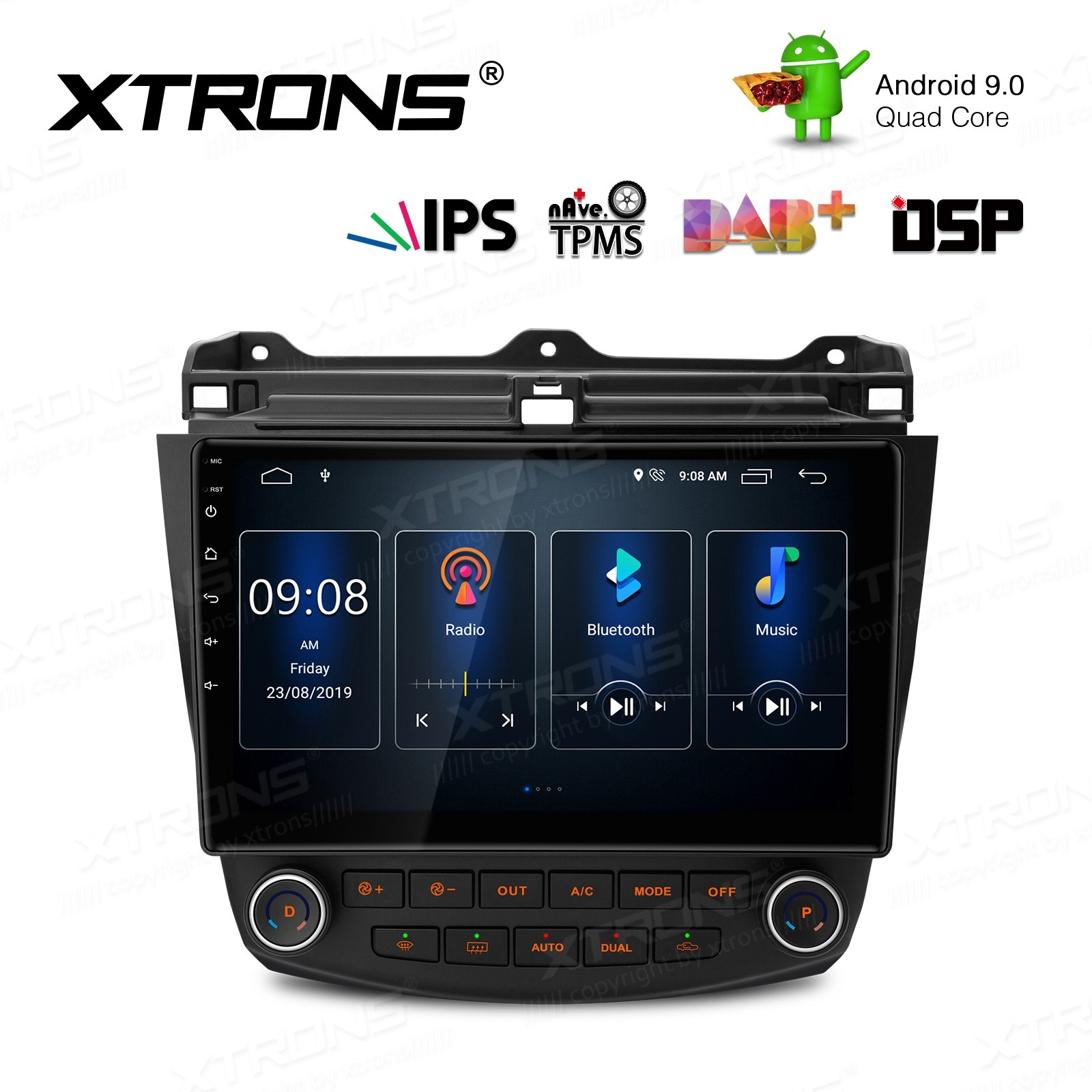 10.1 inch Android 9.0 IPS Screen with Built-in DSP Navigation Multimedia Player Fit for Honda (Fit Left Hand Vehicles ONLY)