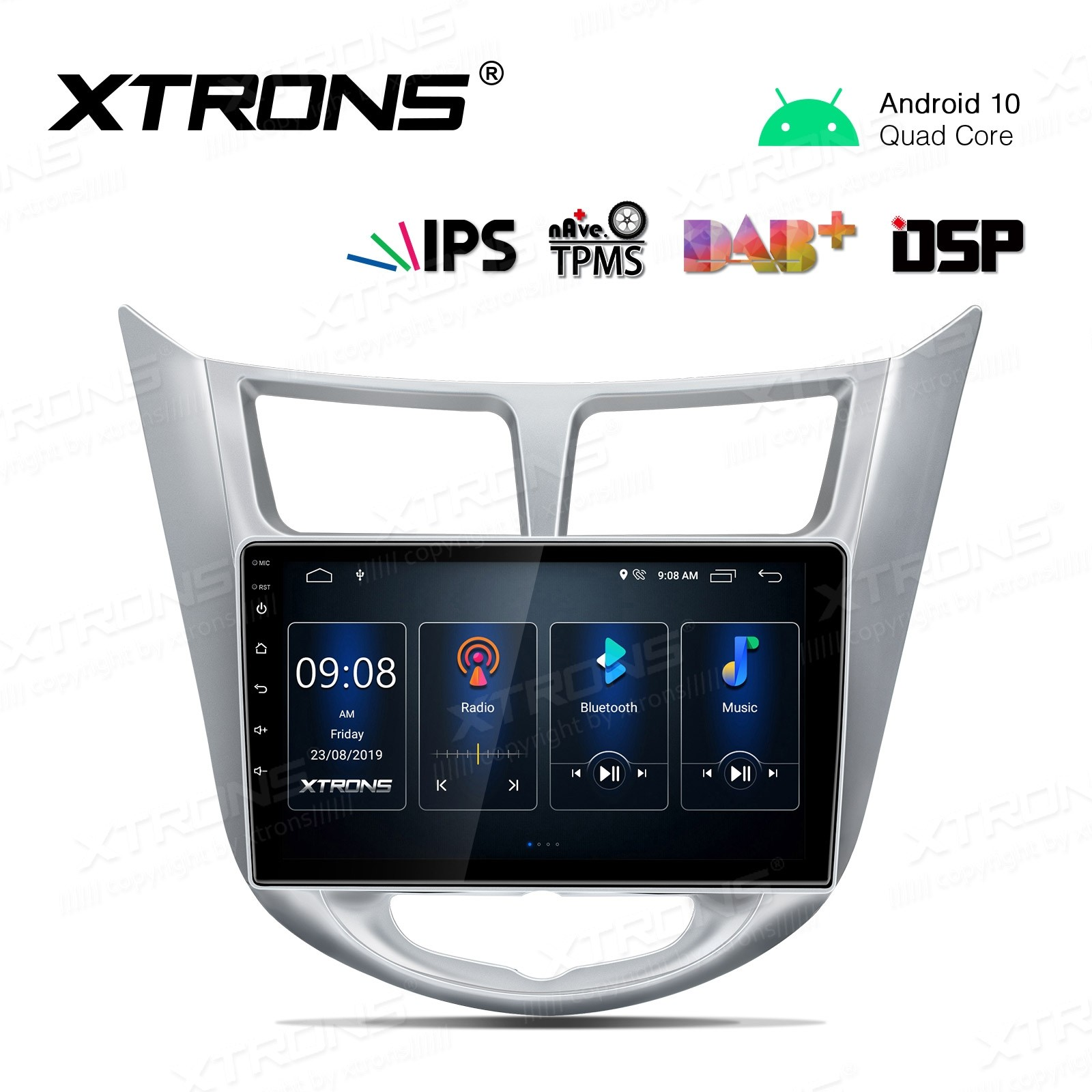 9 inch IPS Screen Navigation Multimedia Player with Built-in DSP Fit for HYUNDAI