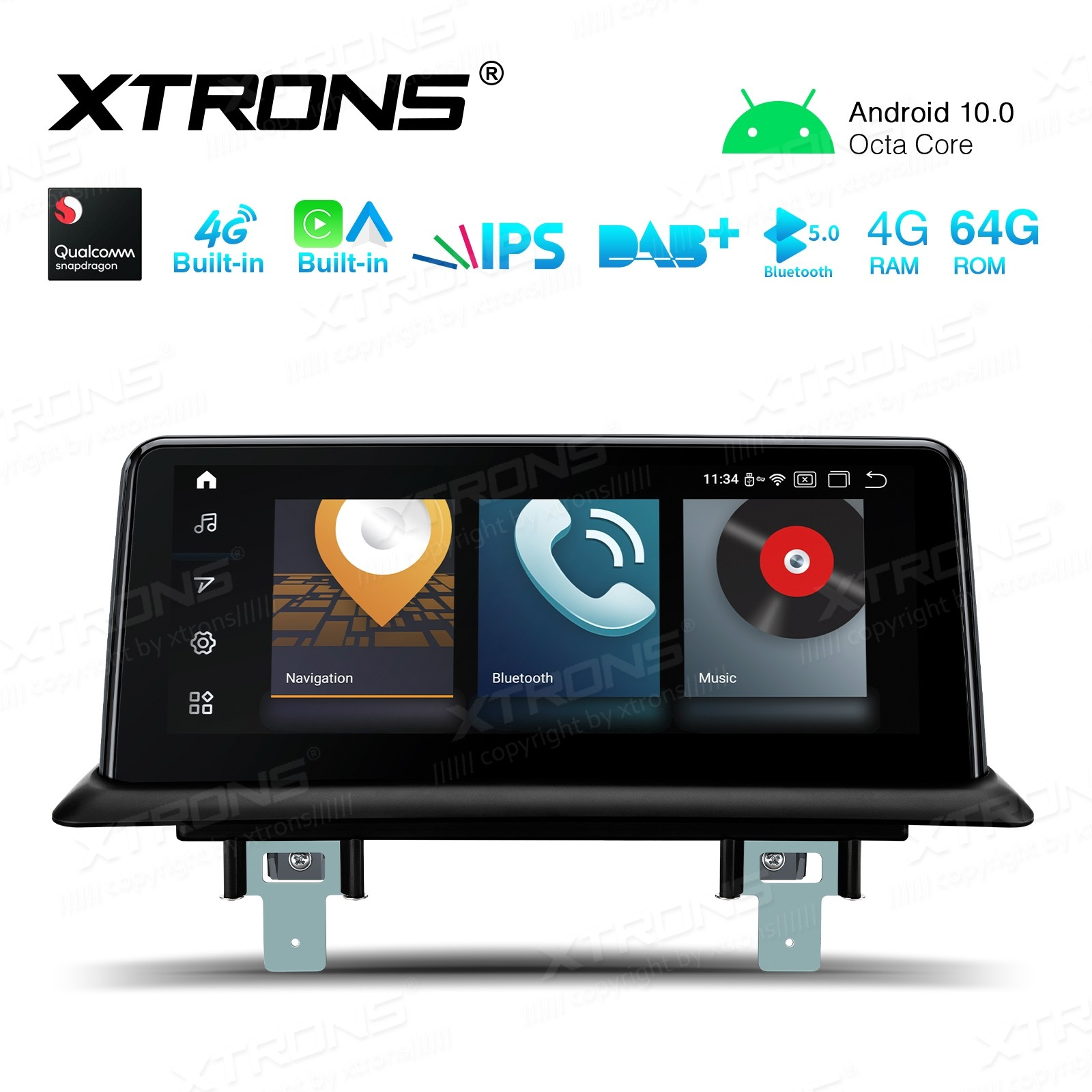 10.25 inch Car Android Multimedia Navigation System with Built-in 4G and CarAutoPlay and Android Auto for BMW 1 Series E81/E82/E87/E88 CCC