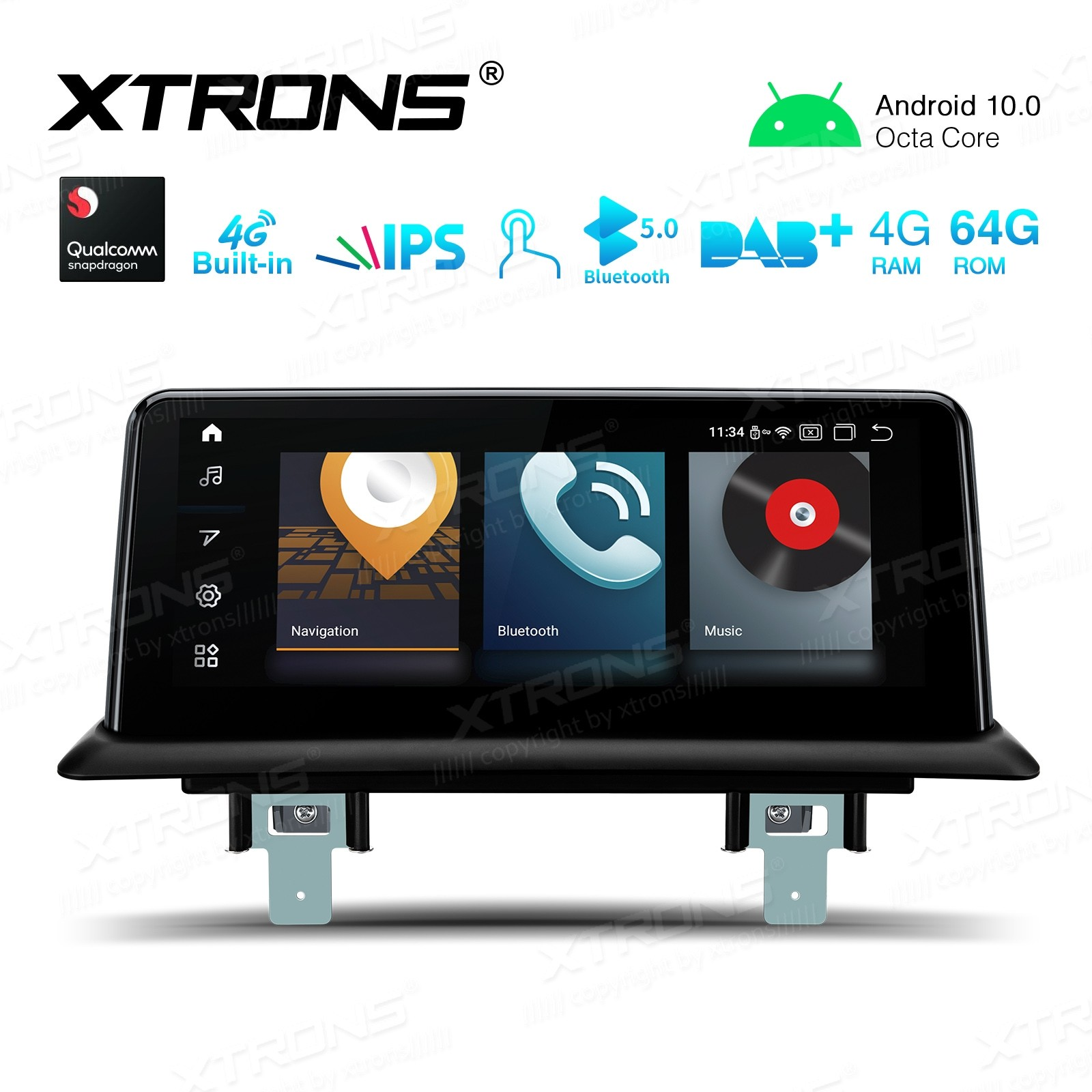 10.25 inch Car Android Multimedia Navigation System with Built-in 4G for BMW 1 Series E81/E82/E87/E88 with No Original Display