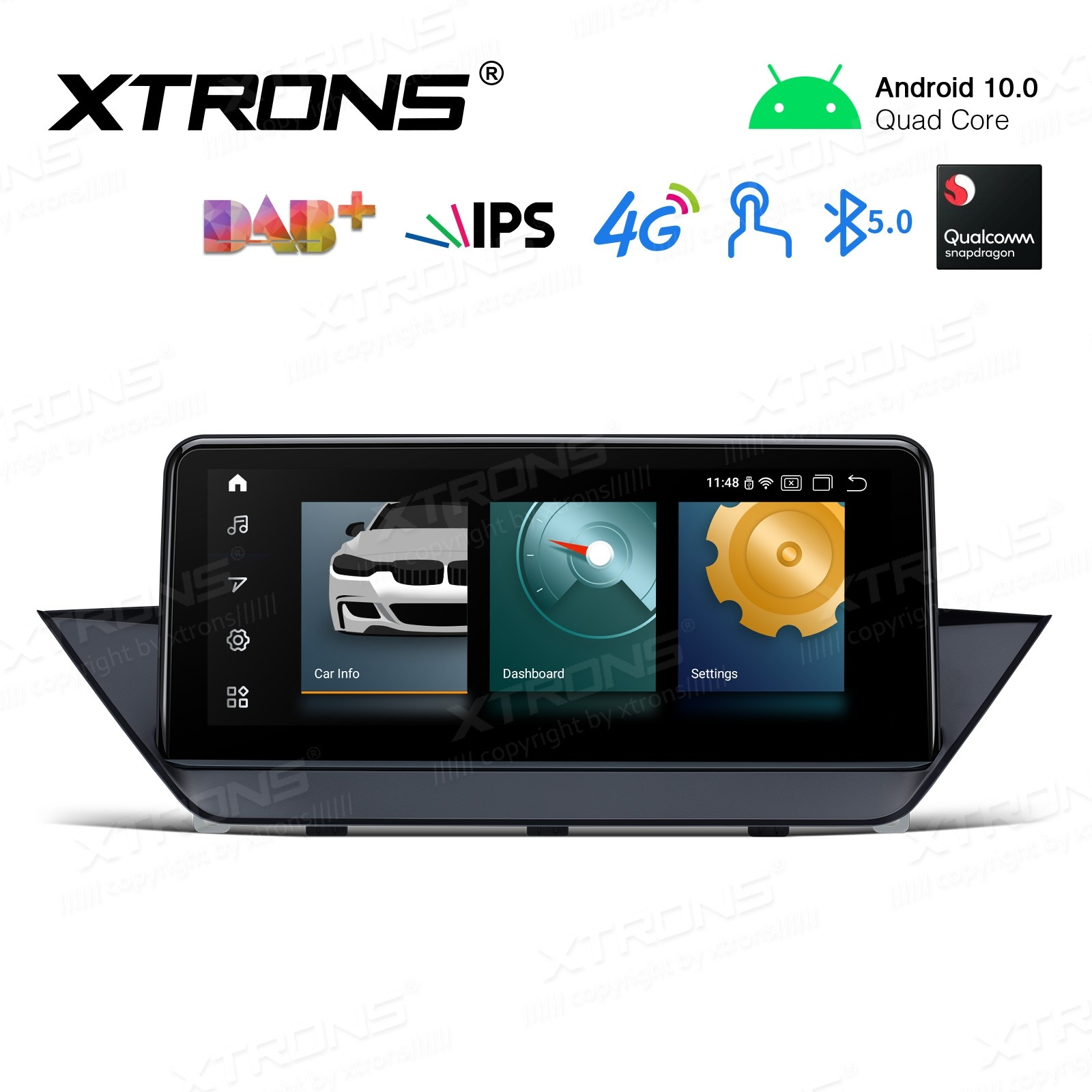 10.25 inch Android Navigation System with Built-in 4G Support Carriers in Asia and Europe for BMW X1 E84 with NO Original Display